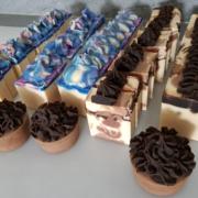 Seifencupcakes beim ersten Seifenverkauf
